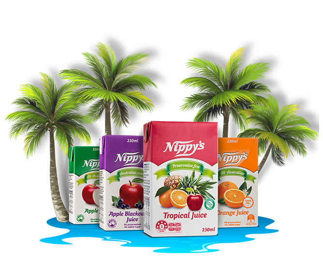 A tropical oasis for their lunchbox.